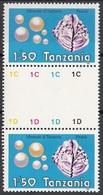 Tanzania 1986 Sc. 310 Minerali Minerals Perle Gemstones Pearls Nuovo MNH Conchiglie - Minerali