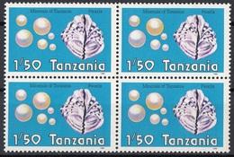 Tanzania 1986 Sc. 310 Minerali Minerals Perle Gemstones Pearls Quaterna  Nuovo MNH Conchiglie - Minerali