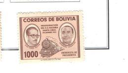 Bolivia PO 1957 Pres.Zuazo E Aramburu Scott.410+See Scans On Scott.Page - Bolivia