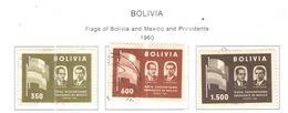 Bolivia PO 1960 Pres.e Bandiera  Scott.411/413+See Scans On Scott.Page - Bolivia