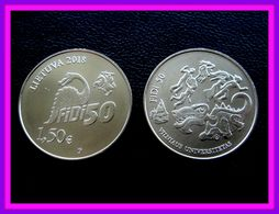 2018 Lithuania Litauen Dinosaur Coin 1,50 Eiro /euro Universitet Vilnius UNC - Lituania