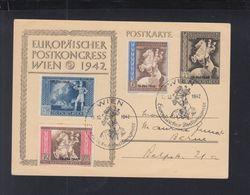Dt. Reich Österreich FDC Karte 1942 Aufdrucke - Duitsland