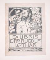 Ex-libris Moderne XXème Illustré -  Allemagne - DRis RUDOLF LOTHAR - Ex-libris