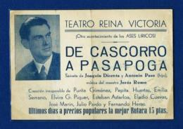 Octavilla Teatro Reina Victoria  (año 1950) - Programas
