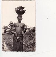 CPSM AFRIQUE NOIRE Type De Femme Et Enfant Nu Ethnologique Eros Nude Nu Ethnique Curiosa - Cartes Postales