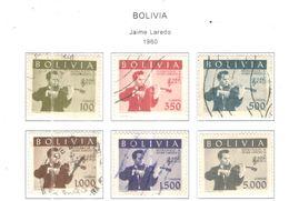 Bolivia PO 1960 Jaime Laredo   Scott.423/428+See Scans On Scott.Page - Bolivia