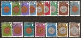Guernsey Guernesey 1979  Yvertn° 168-183 (o) Oblitéré Used Cote 5,00 Euro  Piéces De Monnaies Munten - Guernesey