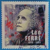France 2016 : Léo Ferré, Poête Et Musicien Français N° 5080 Oblitéré - Oblitérés