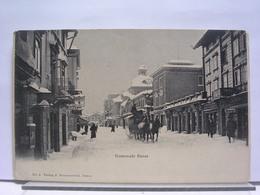 SUISSE - PROMENADE DAVOS - ANIMEE - ATTELAGE - 1907 - GR Grisons