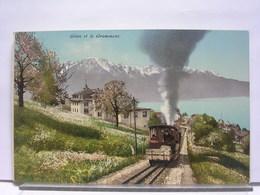 SUISSE - GLION ET LE GRAMMONT - TRAIN - VD Vaud
