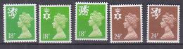 PGL BA0953 - GRANDE BRETAGNE Yv N°1579b/83a ** REGIONAUX - 1952-.... (Elizabeth II)