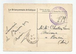 Marcophilie 1945 Cachet Hopital Héliothérapie De Briançon 05 Hantes Alpes , En Fm , Pour Poucin Ain 01 - Marcophilie (Lettres)