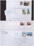 FRANCIA -   4 Enveloppes  Storia Postale - France