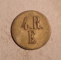 TOKEN JETON GETTONE 4.R.E. DA CATALOGARE ? - Monétaires/De Nécessité