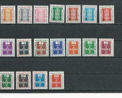 MAURITANIE  Scott J9-J25, O1-O11 Yvert Taxe 19-25 Service 1-11 (18) ** Cote 12,00 $ 1961 - Mauritanie (1960-...)
