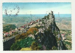 SAN MARINO CONFRANCOBOLLI  VIAGGIATA FG - Saint-Marin