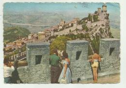 SAN MARINO CON FRANCOBOLLI OLIMPICI  - VIAGGIATA FG - Saint-Marin