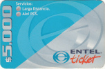 CHILE - ENTEL Prepaid Card $5000, Exp.date 30/06/00, Used - Chile