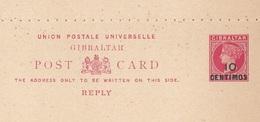 GIBRALTAR 189? -  2 X ? C Mit Überdruck Auf Doppel-Pk Ungestempelt ** Gute Erhaltung - Gibraltar