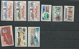 MAURITANIE Scott 167-169, 171, 172, 173, C20-C21, C35 Yvert 156-158, 160, 162-3, PA24-5, PA28 (9) ** Cote 13,50 $ 1962-3 - Mauritanie (1960-...)