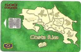 Costa Rica - ICE - Map Of Costa Rica - 11.1999, 500₡, 78.000ex, Used - Costa Rica