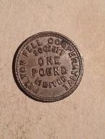 TOKEN JETON GETTONE COOPERATIVE FELTON FELL SOCIETY ONE POUND LIMITED 1 £ - Monetari/ Di Necessità