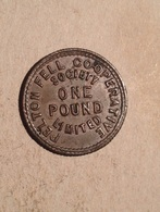 TOKEN JETON GETTONE COOPERATIVE FELTON FELL SOCIETY ONE POUND LIMITED 1 £ - Monetary/Of Necessity