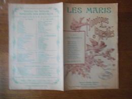 LES MARIS MONOLOGUES POUR JEUNES FILLES  A Mlle HENRIETTE CASTERES PROTESTATION COMIQUE PAR MARIUS BERGE - Partitions Musicales Anciennes