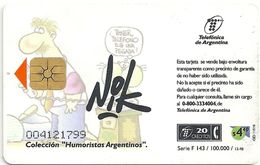 Argentina - Telefónica - Nik - No Me Dijo Que Cada - 12.1998, 20Units, 100.000ex, Used - Argentinien