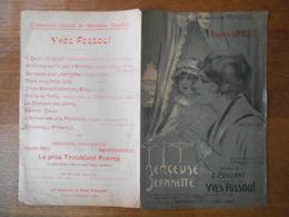 BERCEUSE POUR BERNADETTE REPERTOIRE SONNELLY PAROLES DE G.BRILLANT MUSIQUE DE YVES FOSSOUL 1918 - Partitions Musicales Anciennes