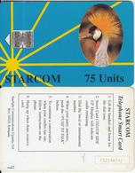 UGANDA - Bird, Gru, STARCOM Blue Card, First Issue 75 Units(reverse G), CN : C52148742, Used - Uganda