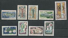 MAURITANIE Scott 177-180, 182-185, C28 Yvert 179-182, 184-187, PA32 (9) ** Cote 10,20 $ 1964-5 - Mauritanie (1960-...)