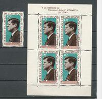 MAURITANIE Scott C40, C40a Yvert PA44, BF3 (1+bloc) ** Cote 10,00 $ 1964 - Mauritanie (1960-...)