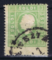 Lombardo-Veneto  Sa 35   Mi 8 II A   Used Obl. Signed/ Signé/signiert/ Approvato - Lombardije-Venetië