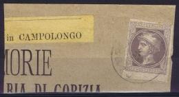 Lombardo-Veneto Austrian Newspaperstamp Used Postally In Italy  Campolongo - Lombardije-Venetië