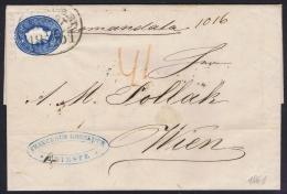 Lombardo-Veneto  Registered Complete Letter 15 Kr With Cancel Recommandirt/TRIEST On Back 10 KR Stamp Wax Sealed To Wien - Lombardo-Veneto