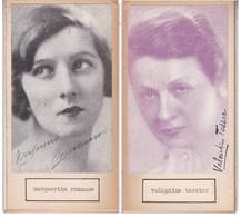 MARGUERITE ROMANNO; VALENTINE TESSIER. AUTOGRAPHE AUTOGRAFO SIGNEE SIGNATURE AUTHENTIQUE ORIGINAL.-BLEUP - Autographes