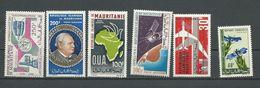 MAURITANIE Scott C41, C43, C51, C52, C57, 211 Yvert PA47, PA45, PA55, PA56, PA62, 213 (6) ** Cote 14,50 $ 1965-66 - Mauritanie (1960-...)