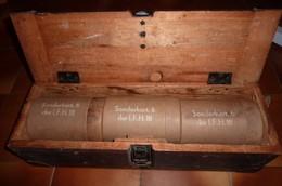 Caisse De Charge De Poudre Pour 6.I;F.H.18, Mine, 1939-45, Grenade, Autres - Armes Neutralisées