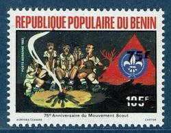 Benin, Scoutisme, Overprint 75f/105f, 1984 MNH VF - Benin - Dahomey (1960-...)