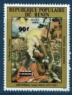Benin, Claude Monet, French Painter, Overprint 90f/300, 1984 MNH V - Benin - Dahomey (1960-...)