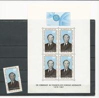 MAURITANIE Scott C71, C71a Yvert PA72, BF4 (1+bloc) ** Cote 10,00 $ 1968 - Mauritanie (1960-...)