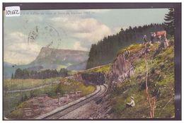 DISTRICT DE LA VALLEE - TRAIN A LA VALLEE DE JOUX - BAHN - B ( LEGER PLI EN BAS ) - VD Vaud
