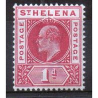 St Helena King Edward VII 1d Red Stamp From 1902.  This Stamp Is In Mounted Mint Condition And Is Catalogue Number 54. - Saint Helena Island