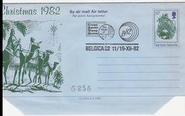 G236 - Entier / Stationery / Aerogramme Des Iles Caïmans - 10c Avec Cachet Belgica 82 Le 11-19/12/1982 - Cayman Islands