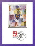 Frankreich 1999  Mi.Nr. 3356 , EUROPA  CEPT Mitläufer - Einführung Des Euro - Maximum Card - Paris 1-01-1999 - 1999