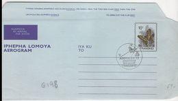G198 - Entier / Stationery / Aerogramme Du Transkei 10c Papillon Avec Cachet Amphilex 26/05 Au 05/06/1977 - Transkei