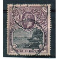 St Helena King George V 8d Black And Dull Purple Stamp From 1912.  This Stamp Is In Fine Used Condition. - Saint Helena Island