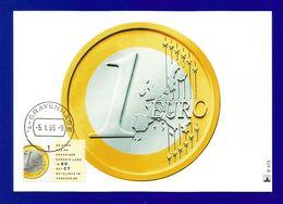 Nederland 1999  Mi.Nr. 1704 , EUROPA Sympathie Mitläufer - Einführung Des Euro - Maximum Card - Gravenhage  -5.1.99 - 1999