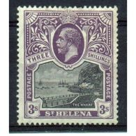 St Helena King George V 3/-d Black And Violet Stamp From 1912.  This Stamp Is In Mounted Mint Condition. - Saint Helena Island